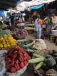 L'allée des légumes au marché de Mysore