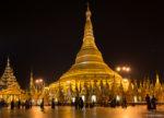 Sur l'esplanade de la pagode Schwedagon